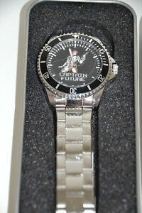 Captain Future/ Armband-Uhr / schweres Metall-Gehäuse + Gliederarmband/ ca. 1980