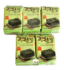 Korean Seasoned Roasted Seaweed Healthy Diet Snack Food 10 Packs