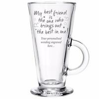 Best Friend Personalised Engraved Latte Glass Gift MBF-LG