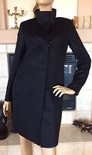 UNIQLO WOMEN BLACK CASHMERE BLENDED STAND COLLAR COAT NWT SIZE M 149.90$