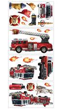 RoomMates Wandtattoos Feuerwehr Wandsticker ablösbar unbegrenzt Sticker Bilder