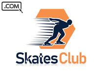 SkatesClub .com  Premium SKATES SKATING CLUB Brandable Domain Name for sale