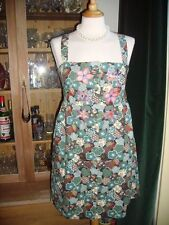 Laura Lees for Topshop Small Retro Floral Pinafore Dress Embroidery Skulls