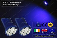 W5W T10 Wedge Blue LED SMD Car Front Side Lights Parking Bulbs Sidelights 12v