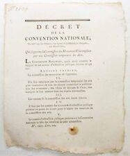 Decrets de la convention nationale - commission des monuments  - 1793 ( 090 )