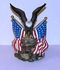 San Francisco Music Box Company America The Beautiful Eagle And Flags Music Box