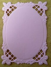 • • • Die Cuts ~ Embossed MATS #8...x7 ~ Pink ~ Stampin Up C/S - Cards