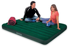 INTEX Queen Prestige Air Bed Outdoor Camping Downy Inflatable Mattress with Pump