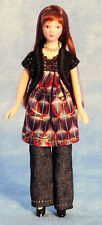 DOLLS HOUSE MODERN YOUNG GIRL IN TROUSERS & SMOCK TOP