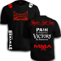 Stryker Shorts Sleeve Shirt  MMA UFC Muay Thai Boxing With FREE Tapout Sticker T
