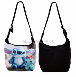 New Disney Lilo & Stitch Scrump Photo Real Hobo Bag Beach Tote Park Purse