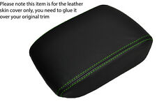 GREEN STITCHING LEATHER ARMREST LID SKIN COVER FITS SAAB 9-5 95 2006-2009