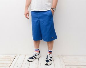 Dickies Hommes Bleu W33 13'' Coupe Ample Cargo Short Travail Patineuse Combats