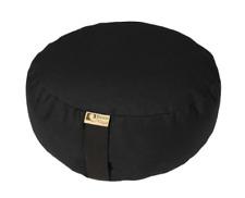 Bean Products BLACK - Round Zafu Meditation Cushion - Yoga - 10oz Cotton - Fill