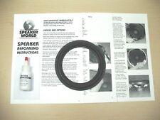 "Klipsch 1+ 6""-6.5"" Subwoofer ReFoam Repair Kit For Klipsch Promedia 2.1 System"