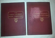 The Young People's Music Portfolio for voice, piano and violin vintage books 1&2