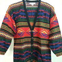 Kathryn Deene Aztec Southwest Cardigan Tunic Vintage Womens 26/28 4X Sweater