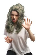Wig Ladies Carnival Halloween Grey Green Mermaid mermaid mermaid long wavy