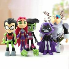 7 Pcs Teen Titans Go Robin Cyborg Beast Boy Raven Starfire Action Figure Model