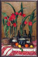 Richard PIetzsch 1872-1960: Stilleben 1936 Ausstellungen 119 x 73, Amaryllis Öl