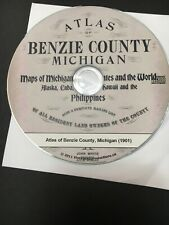 Benzie County Michigan 1901 Plat Map On Cd- Pdf