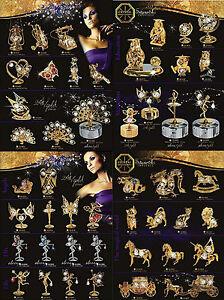Swarovski Components Crystal Temptations Bleikristall 24 K vergoldet versilbert