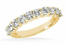 1.01 carat Round Diamond Anniversary Ring Wedding Band 14k Yellow Gold G color