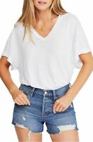 Free People Womens Top Ivory White Size Small S Knit Cutout V Neck $58 102