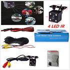 Night Vision 4 Led Ir Car Reverse Rear View Dynamic Trajectory Camera W Cables