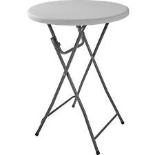 Tavolo alto da bar bistrot rotondo pieghevole pub tavolino giardino Ø 80cm