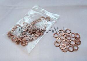 100 STÜCK Kupferringe Dichtring Dichtung Cu 6x10x1,0 mm DIN 7603 Form A