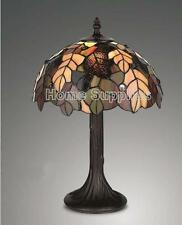"""HARVEST TIFFANY STYLE STAINED GLASS TABLE LAMP 12"""" WIDE ( STUNNING QUALITY )"""