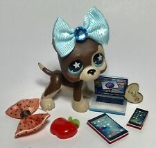 Littlest Pet Shop Sassiest #817 Great Dane W/Custom Accessories