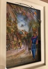 Jean Pierre Weill Vitreography 3D Painting On Glass Framed Original Box Retired