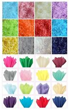 ACID FREE WRAPPING TISSUE PAPER SHEETS OR RECYCLABLE SHREDDED