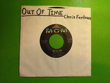 "CHRIS FARLOWE  Out of Time b/w Baby Make It Soon  7"" 45rpm Vinyl VG+"