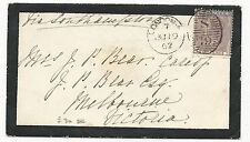 GREAT BRITAIN Scott #27a on Mourning Cover to Australia 1862