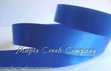 """3yd of Royal Blue 3/8"""" Double Face Satin Ribbon 3/8"""" x 3 yards neatly wound"""