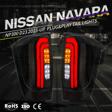 Smoked LED Tail Lights For NISSAN NAVARA NP300 D23 2015-UP Plug & Play Pair