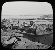 Glass Magic Lantern Slide TEMPLE AT PHILAE C1900 EGYPT EGYPTIANS