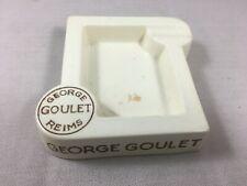 Cendrier vintage bar bistro ashtray ads Champagne Georges Goulet brut 1928