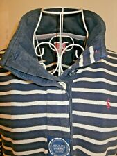 Women's blue/white stripe long sleeved cotton top Joules size 14
