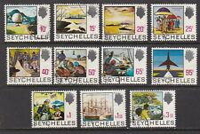 Seychelles 1973 Set of 11 on Whiter Paper CDS Used SG263a-276a