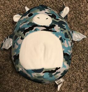 "Squishmallow 8"" Keanu Dragon Soft Teal Camo Plush BNWT"