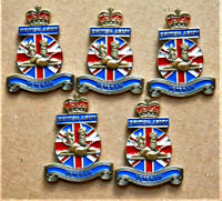 5 x BRITISH ARMY VETERAN ENAMEL MILITARY PIN BADGE UK VETERAN REMEMBRANCE BADGE