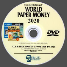 CATALOGO BANCONOTE DEL MONDO 2020 - DALL'ANNO 1368 AL 2020 - ORIGINALE SU DVD