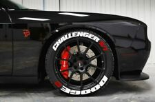 """Dodge Challenger Tire Lettering Permanent Stickers Wheel 14""""-24"""" Letters 1.25"""""""