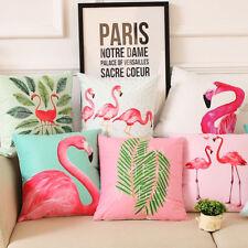 Fashion Flamingo Polyester Throw Pillow Case Sofa Cushion Cover Decor Eyeful