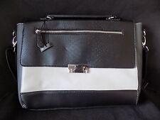Atmosphere Black & Grey Lap Top Style Strap Shoulder Handle Bag