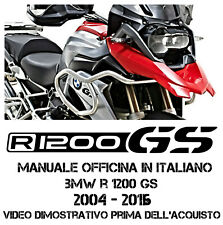 MANUALE OFFICINA IN ITALIANO BMW R 1200 GS 2004 - 2016 SOLO INVIO EMAIL FILE RAR